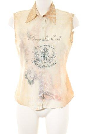 Aust Mouwloze blouse room prints met een thema casual uitstraling