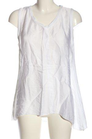 Aust Bluzka bez rękawów biały W stylu casual