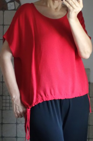 Aust Blouse oversized rouge fluo-rouge viscose