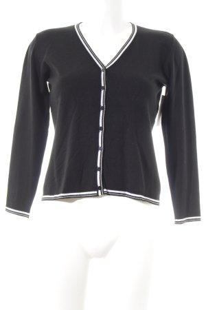 Aust Cardigan nero-bianco sporco stile casual