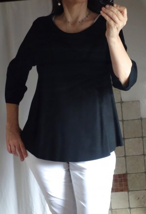 Aust Long Shirt black viscose