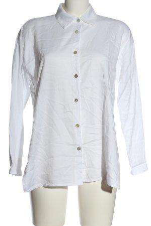 Aust Koszulowa bluzka biały Wydrukowane logo W stylu casual