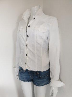 Aust Jeansowa kurtka biały-srebrny