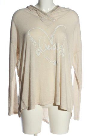 Aust Sweter z kapturem w kolorze białej wełny Wydrukowane logo W stylu casual