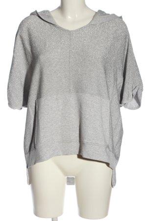 Aust Top à capuche gris clair-argenté moucheté style décontracté