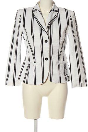 Aust Klassischer Blazer biały-czarny Wzór w paski W stylu biznesowym