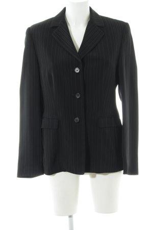 Aust Blazer corto nero motivo a righe stile professionale
