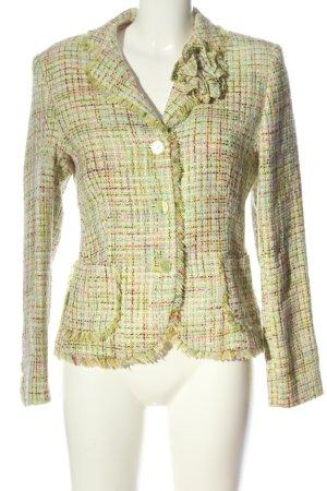 Aust Blazer corto verde motivo a quadri stile professionale