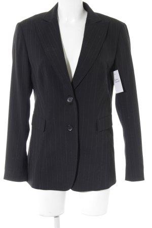 Aust Blazer court noir-blanc rayure fine style d'affaires