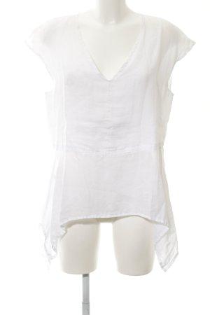 Aust Camicetta a maniche corte bianco stile casual