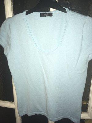 Aust Sweter z krótkim rękawem miętowy-jasnoniebieski