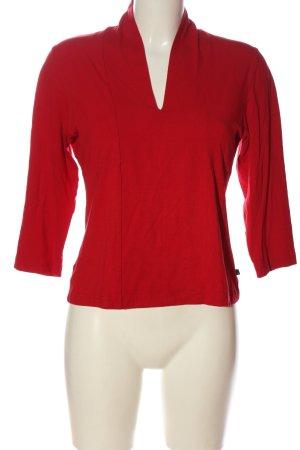 Aust Bluzka z długim rękawem czerwony W stylu casual
