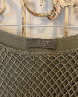 Aust Sweater met korte mouwen groen-grijs