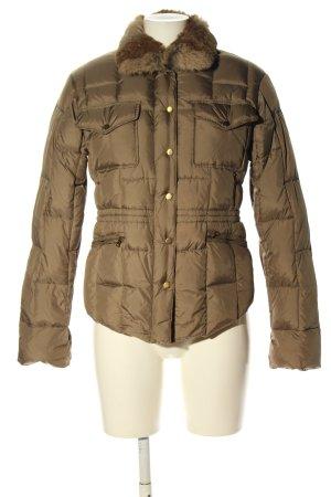 Aust Veste d'extérieur brun motif de courtepointe style décontracté