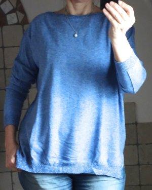 Aust Sweter oversize niebieski neonowy