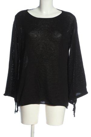 Aust Sweter z okrągłym dekoltem czarny W stylu casual