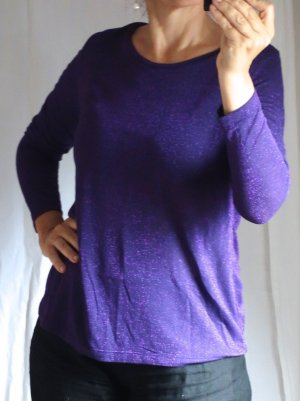 Aust Manica lunga viola scuro Viscosa