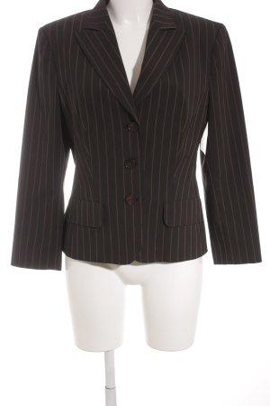 Aust Blazer smoking nero-marrone motivo a righe stile stravagante