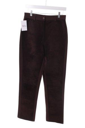 Aust Pantalon strech brun foncé Éléments en cuir