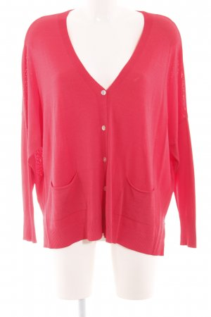 Aust Strick Cardigan rot Casual-Look