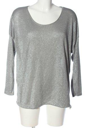 Aust Pull tricoté gris clair moucheté style décontracté