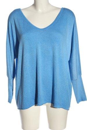Aust Pull tricoté bleu style décontracté