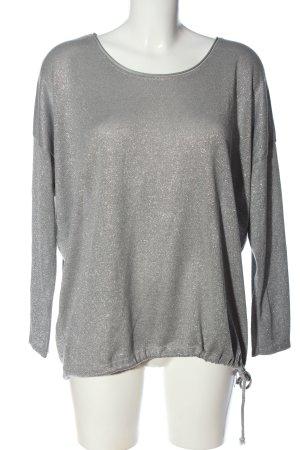 Aust Pull tricoté gris clair style décontracté