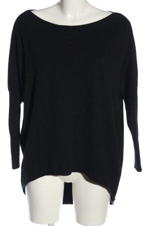 Aust Pull tricoté noir style décontracté