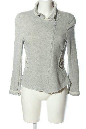 Aust Giacca fitness grigio chiaro puntinato stile casual