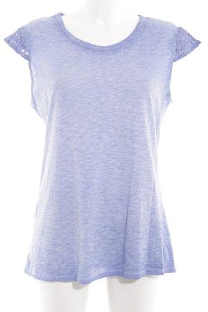 Aust T-shirt violet moucheté style décontracté