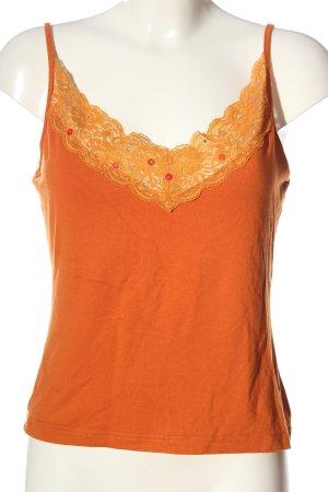 Aust Débardeur à bretelles orange clair style décontracté