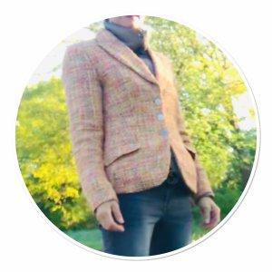 Aust Blazer in lana multicolore