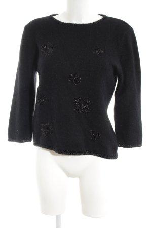 Aust Pull en laine noir style décontracté