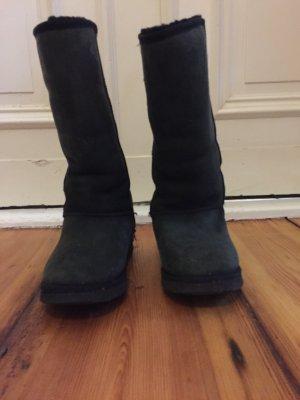 Australia Luxe Collective Laarzen met bont zwart Leer