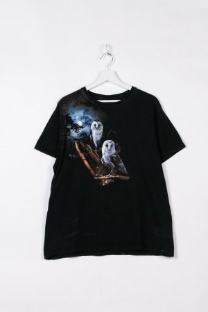 Australian Print Shirt black cotton