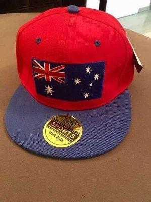 keine Marke Baseball Cap red-blue mixture fibre