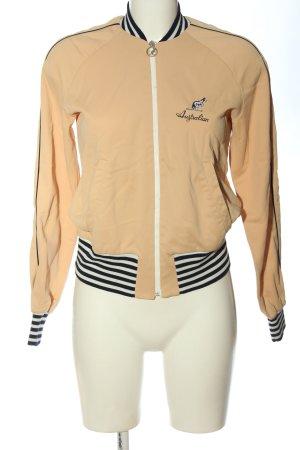 Australian Blouson aviateur crème motif rayé style décontracté