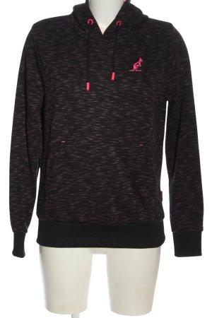 Australian Hooded Sweatshirt black-pink allover print casual look