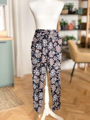 Pantalón estilo Harem azul oscuro-rosa