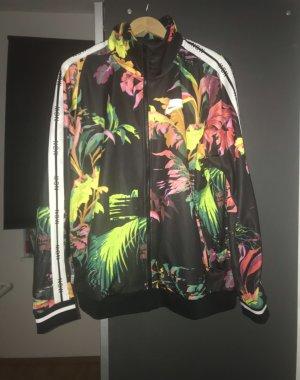 Ausverkaufte schwarze Trainingsjacken mit Blumenmuster