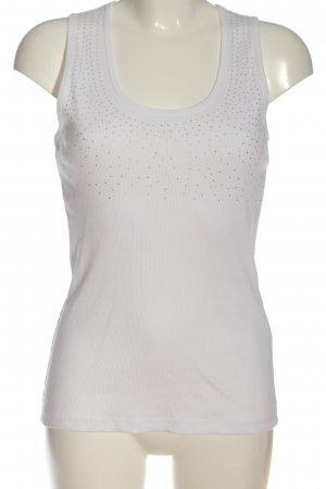 Authentic Sleeveless Blouse white casual look