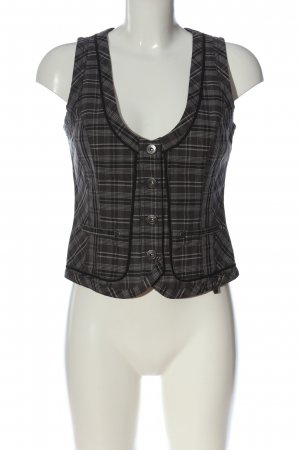 Authentic Waistcoat light grey allover print business style
