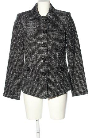 Authentic Clothing Company Klassischer Blazer czarny-biały Abstrakcyjny wzór