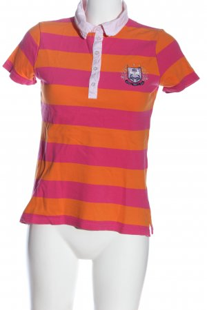 Authentic Clothing Company Polo Shirt pink-light orange striped pattern