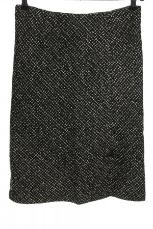 Authentic Clothing Company Tweed Skirt black allover print business style