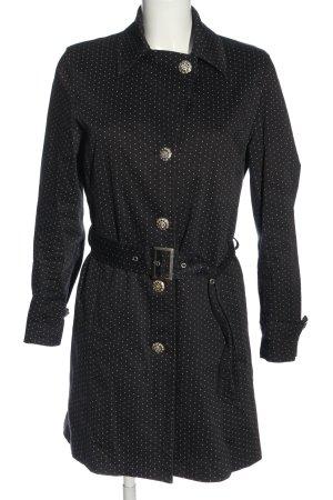 Authentic Clothing Company Płaszcz przejściowy czarny-biały Wzór w kropki