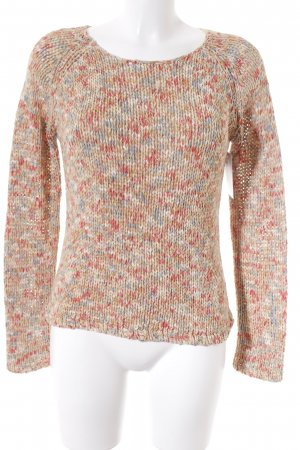 Authentic Coarse Knitted Sweater multicolored casual look