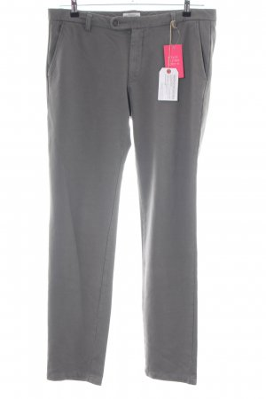 Authentic Low-Rise Trousers light grey business style