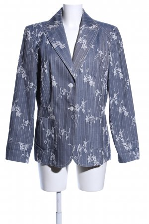 Authentic Denim Blazer blue-white flower pattern business style