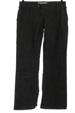 Authentic Jeansowe spodnie dzwony czarny W stylu casual